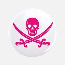 "Pink Calico Jack 3.5"" Button"