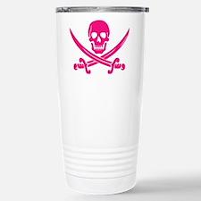 Pink Calico Jack Travel Mug