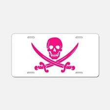 Pink Calico Jack Aluminum License Plate
