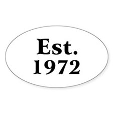 Est. 1972 Oval Decal