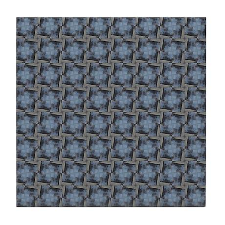 Fancy Blue And Beige Pattern Tile Coaster