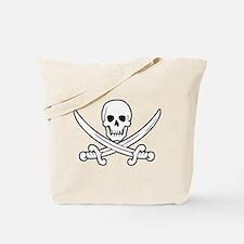 White Calico Jack Tote Bag