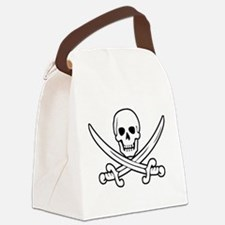 White Calico Jack Canvas Lunch Bag