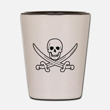 White Calico Jack Shot Glass
