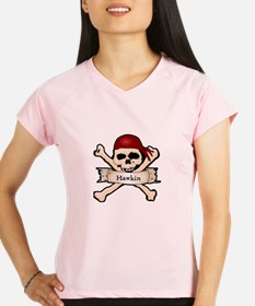Personalized Pirate Skull Performance Dry T-Shirt