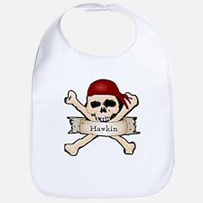 Personalized Pirate Skull Bib
