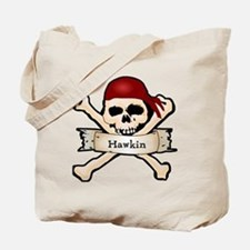 Personalized Pirate Skull Tote Bag