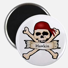 Personalized Pirate Skull Magnet