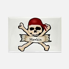 Personalized Pirate Skull Rectangle Magnet