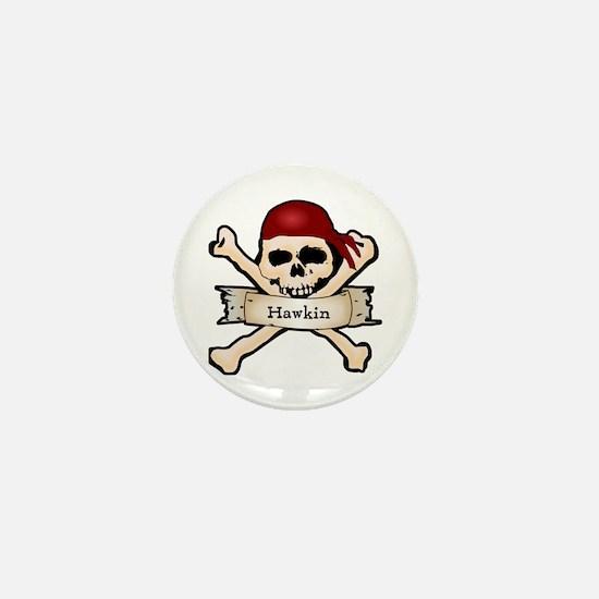 Personalized Pirate Skull Mini Button
