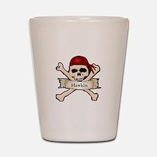Personalized Pirate Skull Shot Glass