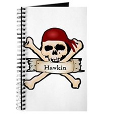 Personalized Pirate Skull Journal
