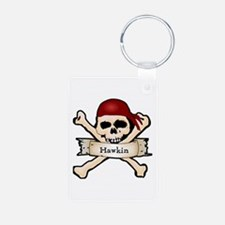 Personalized Pirate Skull Keychains