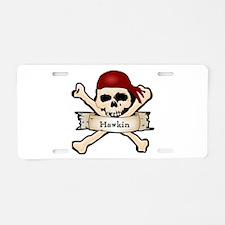 Personalized Pirate Skull Aluminum License Plate