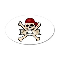 Personalized Pirate Skull Wall Decal