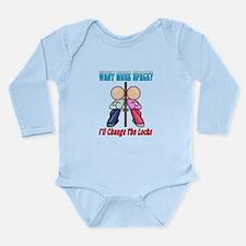 More Space Long Sleeve Infant Bodysuit