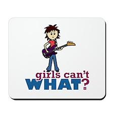 Bass Guitar Girl Mousepad