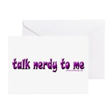 Talk Nerdy To Me II Greeting Cards (Pk of 10)