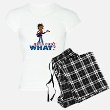 Girl Bass Guitar Player Pajamas