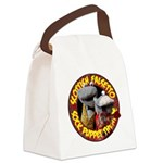 Canvas Lunch Bag with Socks logo