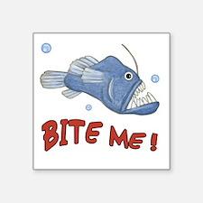 "Piranha - Bite Me Square Sticker 3"" x 3"""