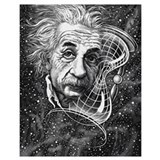 Einstein Wrapped Canvas Art