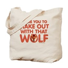 I Dare You Wolf Make-out Tote Bag