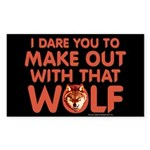 I Dare You Wolf Make-out Sticker