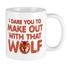 I Dare You Wolf Make-out Small Mug