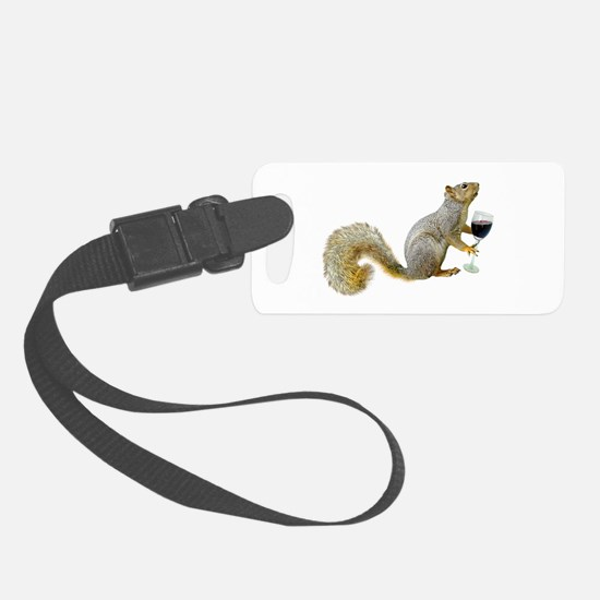 Squirrel with Wine Luggage Tag