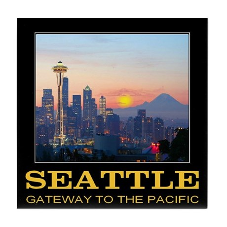 Seattle Gateway to the Pacific Tile Coaster