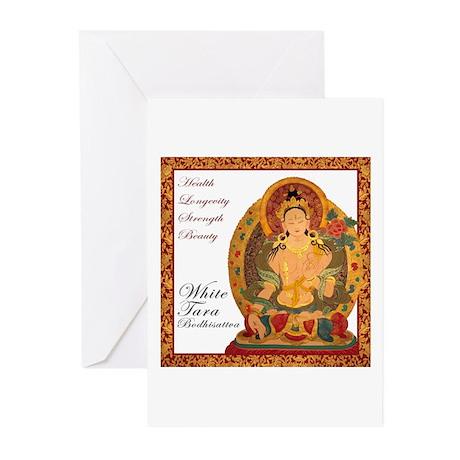 White Tara Bodhisattva III Greeting Cards (Pk of 1