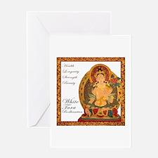 White Tara Bodhisattva III Greeting Card