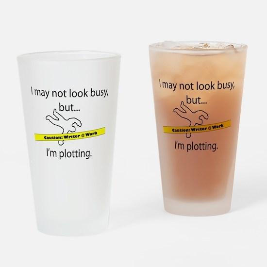 Beware: Plotting Writer Drinking Glass