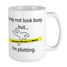 Beware: Plotting Writer Ceramic Mugs