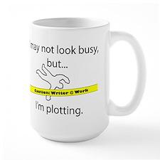 Beware: Plotting Writer Ceramic Mugs