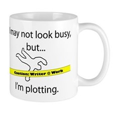 Beware: Plotting Writer Small Mug