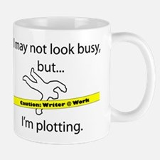 Beware: Plotting Writer Small Mugs
