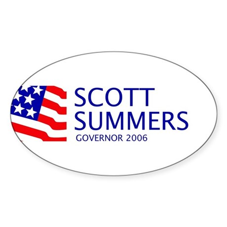 Summers 06 Oval Sticker