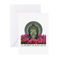 Garden Buddha Greeting Card