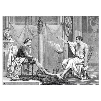Alexander of Macedon and Aristotle Poster