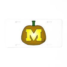Block M Aluminum License Plate