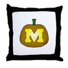 Block M Throw Pillow