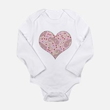 PINK PAISLEY HEART Long Sleeve Infant Bodysuit