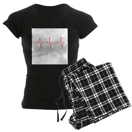 Heartbeat Women's Dark Pajamas