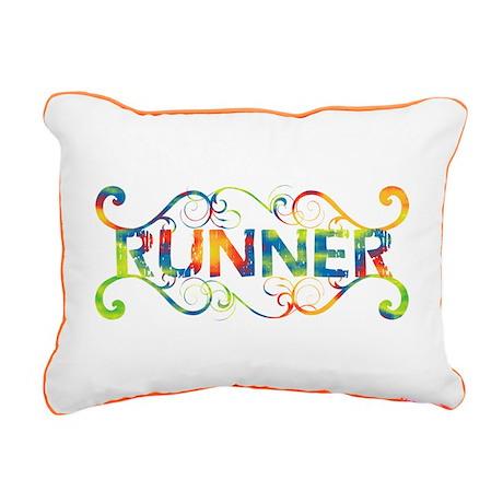 Colorful Runner Rectangular Canvas Pillow