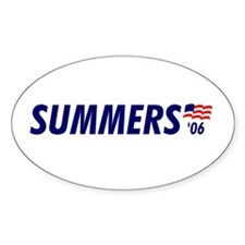 Summers 06 Oval Decal