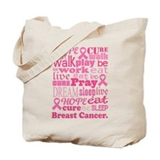 Breast Cancer Hope and Cure Tote Bag