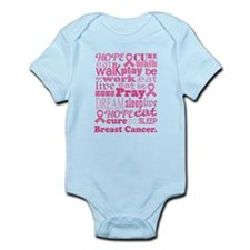 Breast Cancer Hope and Cure Infant Bodysuit