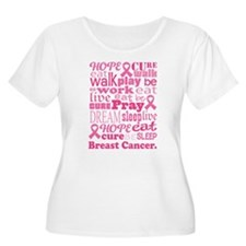 Breast Cancer Hope and Cure T-Shirt